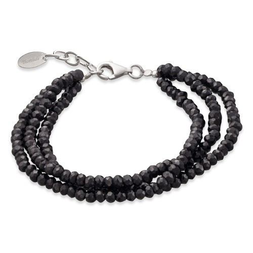 Black Spinel Bracelet 3 Strands